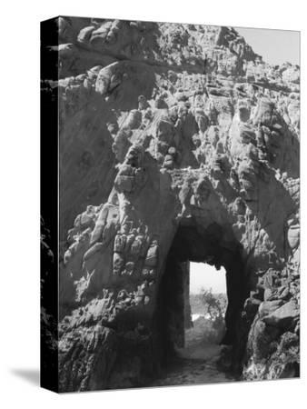 Beach Cave with Water Flooding Through