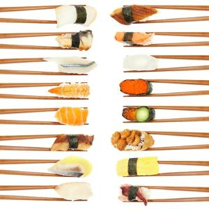 Sushi And Chopsticks by Rob Tek