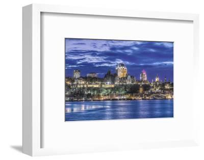 Canada, Quebec, Quebec City at Twilight