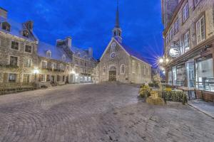 Canada, Quebec, Quebec City, Place Royale at Dawn by Rob Tilley