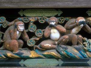 Hear No Evil, Speak No Evil, See No Evil, Toshogu Shrine, Tochigi, Nikko, Japan by Rob Tilley