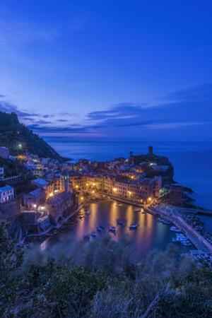 Italy, Cinque Terre, Vernazza at Dawn by Rob Tilley