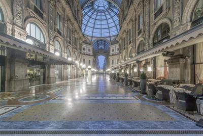 Italy, Milan, Galleria Vittorio Emanuele II at Dawn