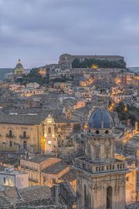 Italy, Sicily, Ragusa, Looking down on Ragusa Ibla at Dusk by Rob Tilley