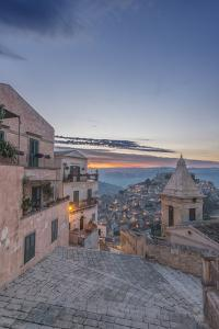 Italy, Sicily, Ragusa, Looking down on Ragusa Ibla at sunrise by Rob Tilley