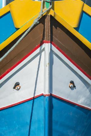 Malta, Marsaxlokk, Traditional Fishing Boat Detail by Rob Tilley