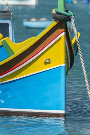 Malta, Marsaxlokk, traditional fishing boat by Rob Tilley