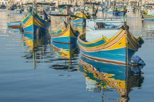 Malta, Marsaxlokk, Traditional Fishing Boats by Rob Tilley