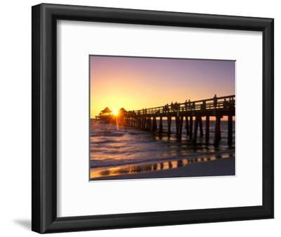 Naples Pier Sunset, Naples, Florida, USA