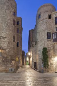 Old Roman Gate at Dawn, Gothic Quarter, Barcelona, Spain by Rob Tilley
