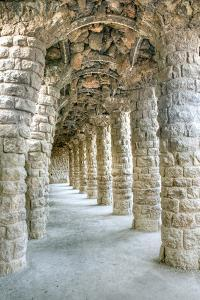 Park Guell Colonnaded Footpath, Barcelona, Spain by Rob Tilley