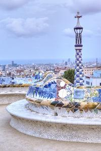 Park Guell Terrace, Barcelona, Spain by Rob Tilley