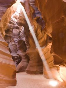 Sunbeam Illuminates Upper Antelope Canyon, Page, Arizona, USA by Rob Tilley