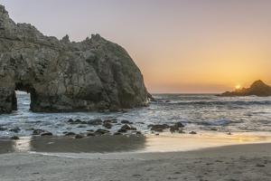 USA, California, Near Big Sur, Pfeiffer Beach Sunset by Rob Tilley