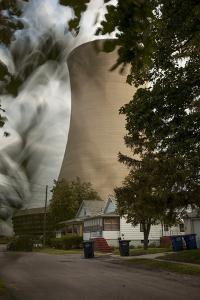 Steam and Smoke Rise from the Cooling Tower of a Coal-Fired Power Plant by Robb Kendrick