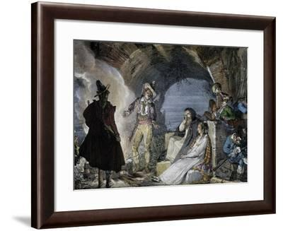 Robbers Den-Jean-Baptiste-Antoine Thomas-Framed Giclee Print