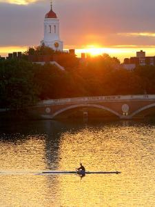 A Man Rowing across the Charles River by Robbie George