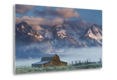 Fog Rolls in around the Mormon Row Historic District and the Snow-Capped Teton Range
