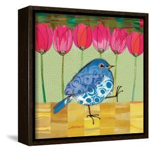 Blue Bird - Tulips by Robbin Rawlings