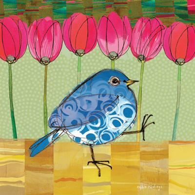 Blue Bird - Tulips by Robbin Rawlings