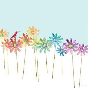 DaisyRainbow    flowers, hummingbird, floral by Robbin Rawlings