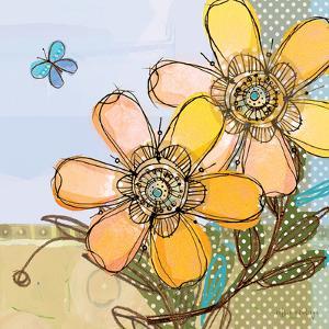 Fancy Flowers Orange by Robbin Rawlings