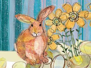 Floppy Bunny - Yellow Flowers by Robbin Rawlings