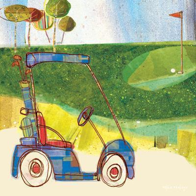 Golf Cart in Blue