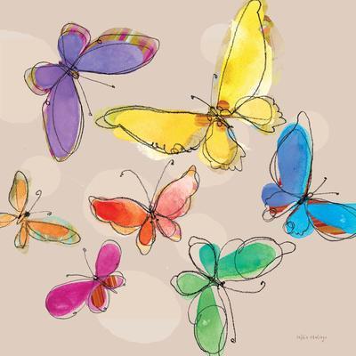 Swirly Butterflies + Neutral Back