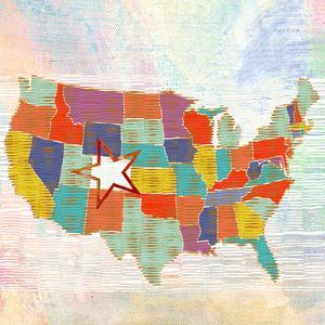 US    lower 48, states, us map by Robbin Rawlings