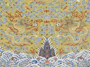 Robe dragon impériale  non coupée à douze symboles