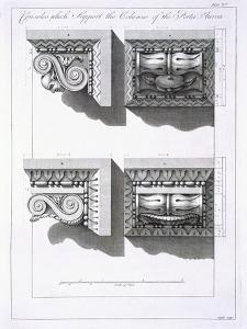 Consoles Which Support Columns of the Porta Aurea by Robert Adam