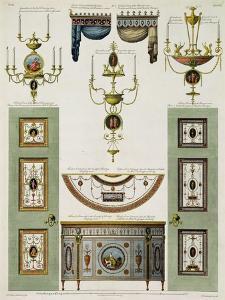 Designs for Curtain Cornices, Girandoles and Folding Doors, 1774 by Robert Adam