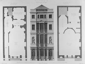 Elevation of the British Coffee House, Engraved by Robert Blyth, 1778 by Robert Adam