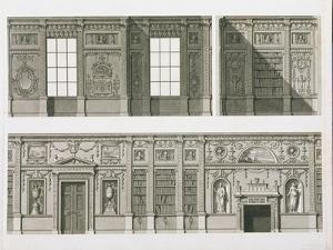 Elevation of the Library at Syon House, circa 1760-69 by Robert Adam