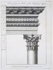 Order of the Portico to the Vestibulum in the Peristylium by Robert Adam
