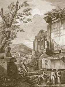 Plate I, from 'Ruins of the Palace of Emperor Diocletian at Spalatro in Dalmatia', Published 1764 by Robert Adam