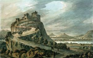 Rocky Landscape with Castle by Robert Adam