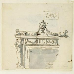 Sketched Design for a Fireplace by Robert Adam