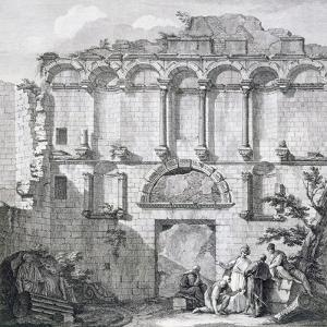 The Porta Aurea, from 'Ruins of the Palace of Emperor Diocletian at Spalatro in Dalmatia' by Robert Adam