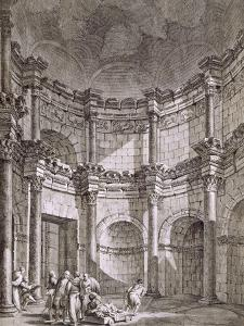 The Temple of Jupiter, from 'Ruins of the Palace of Emperor Diocletian at Spalatro in Dalmatia' by Robert Adam