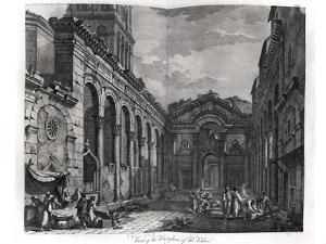View of the Peristyle of the Palace of Diocletian (245-313), Roman Emperor 284-305, at Split by Robert Adam