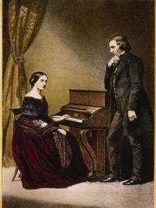 Robert and Clara Schumann, C.1850