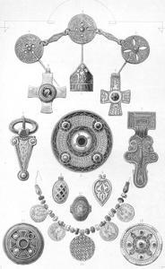 'Anglo-Saxon Relics. Personal Ornaments of Gold and Bronze', 1886 by Robert Anderson