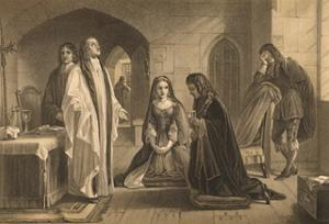 'Lord William Russell Receiving the Sacrament', 1886 by Robert Anderson