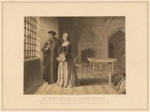 'Sir Thomas More and his Daughter Margaret', (1878) by Robert Anderson