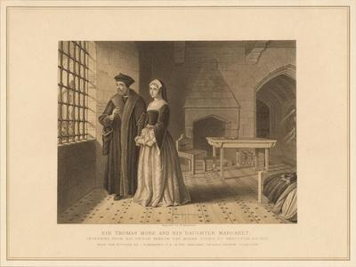 'Sir Thomas More and his Daughter Margaret', (1878)