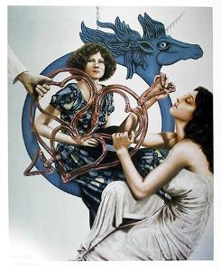 Untitled (Blue Pegasus) by Robert Anderson