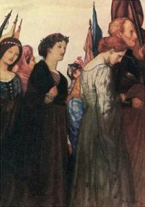 And Beauty Making Beautiful Old Rhyme, in Praise of Ladies Dead and Lovely Knights by Robert Anning Bell