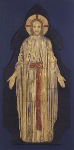 Christ - from a Group of Seven Plaster Bas-Reliefs, for the Park Church, Glasgow by Robert Anning Bell